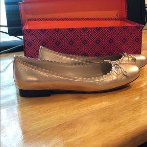 Shoes - Rose Gold Ralph Lauren Flats